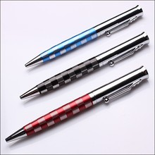 Plaid grip small type special promotional metal ball pen as writing instrument