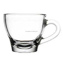 Clear glass espresso cup , coffee mug