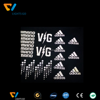 Wholesale hi vis heat transfer glow in the dark reflective logo for clothes