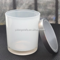 glass jar candle with silver lid OEM packing
