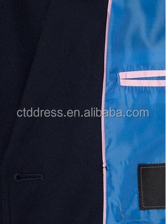 2014 100s laine marine blue 2 bouton double breasted mariages costumes pour les enfants garçons