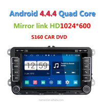 """Newest 7"""" Android 4.4 car play video for VW, car accessories maiker with GPS navigation/Wifi/3G/DVR"""