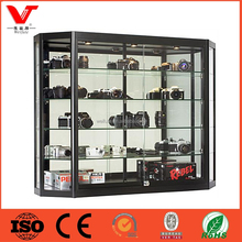 Low Price Wall Mounted Glass Display Case For Retail Stores