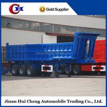 mining transport 40cbm dump semi trailer