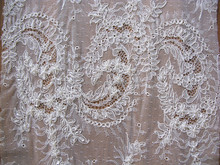 Charming Wholesale Lace Embroidery Fabric, French Lace, French Lace Fabric for Bridal dress