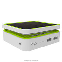 New superposing solar power bank with double USB output