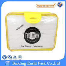 OEM fashion zipper quilt PVC bag blanket bag