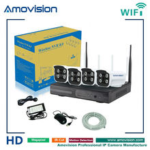 h.264 Indoor/Outdoor 4CH 720P WIFI NVR Kit Embedded 2.4GHz WIFI Router diy home security wifi ip camera