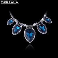 chunky antique silver plated snake chain high end crystal jewelry for woman