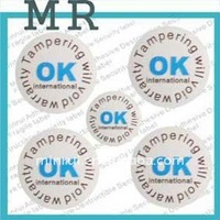 Good Printing!! tamper evident labels,Tear Proof Single Sided Security Seal