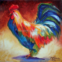 oil paintings of roosters