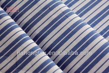 CHANGZHOU pure cotton yarn dyed white stripe poplin fabric for shirting