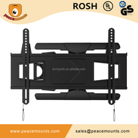 PMS600-L Jor 2015 New Model Black Ultra Slim manufacture retractable articulating removable tv wall mount