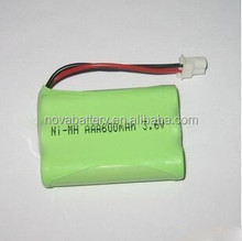 rechargeable batteries, ni-mh battery pack aaa 600mah 3.6v