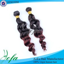 Grade AAAAAA two tone ombre hair weaves,malaysian remy hair weaving