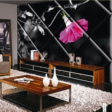 Your place depends on you beautiful flower wall panel design soundproof and waterproof decoration home wallpaper