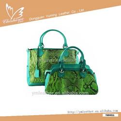 New Arrival fashion snake skin tote bag from handbag manufacturer ,newest fashion women handbag