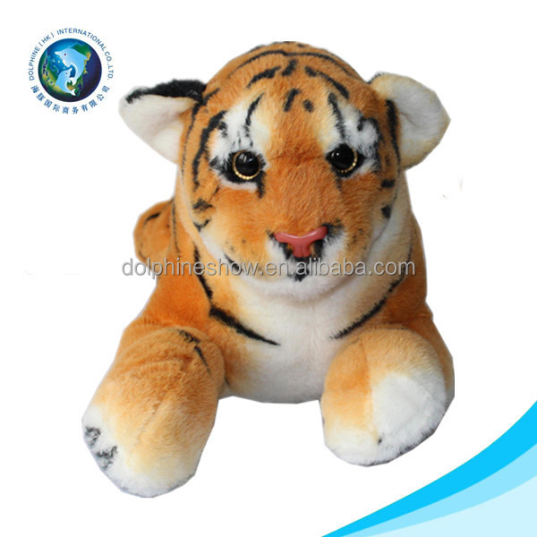 Factory Wholesale Lower Cost Plush Tiger Soft Toy Tiger Pattern