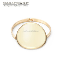 Popular 14k Gold Plated Stoving Varnish Enamel Novelty Fashion Bracelets for Women