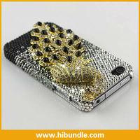 Peacock Design Diamond Case for iPhone 4 4S