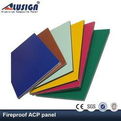 Aluisign standard aluminum fiberglass panel acp fire insulation board