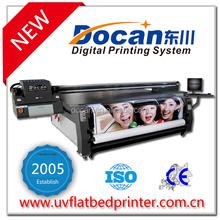 Docan UV Glass Door Printing Machine , High Resolution Hybrid digital printer FRT3116 with roll to roll part