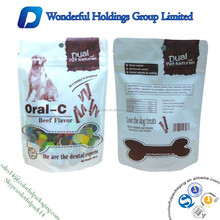 custom printed stand up pouch with ziplock for dog food packaging / plastic aluminum foil pet food bag