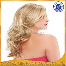 New fashion blonde full lace European virgin real hair wigs for women