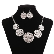 Oxidised Alloy Chain Necklace, 2015 Spring Summer Necklace, Silver Multi-Layer Bib Necklace