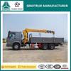 China military vehicle manufacturer SINOTRUK truck with crane 10 ton, truck mounted crane