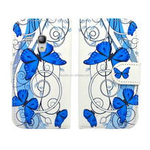 Beautiful Flower Design PU Leather Bookstyle Wallet Case for Samsung Galaxy S3 Mini i8190
