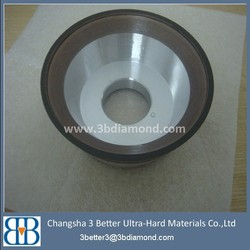 manufacture of high quality vitrified bond diamond cup wheel for pcd