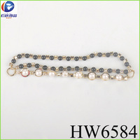Jet pearl with crystal rhinestone for high heel boots chain for shoe sole pendent