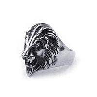 Latest Domineering ring of Lion ring made by titanium steel Wholesale jewelry for men