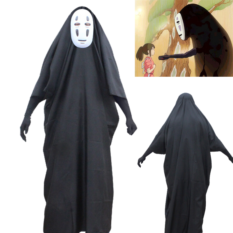 Hot Sale Movie Spirited Away The Mystery No Face Male Cosplay Costumes  Adult Anime Costume With Mask , Buy Cosplay Costumes,Anime Costume,No Face  Male
