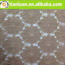 beautiful floral pierced cotton and nylon lace fabric for garment