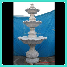 tiered marble carved water fountains for gardens