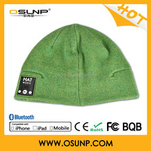 Bluetooth Beanie Hat Combined with Stereo Headphones and Microphone