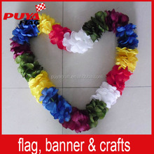 colorful party decorative handmade hawaiian lei artificial flower necklace