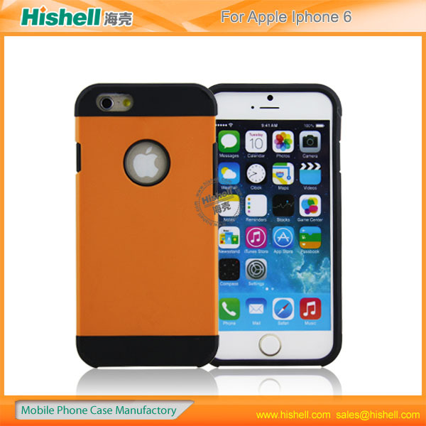 Europen and America most popular hard pc+tpu cell phone case for iphone 6