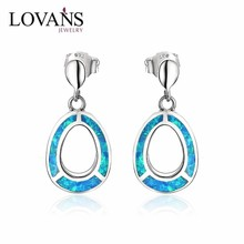 Wholesale 925 Silver Jhumka Earrings Circle Design With Blue Opal