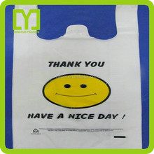 2015 alibaba China supplier food packaging t shirt thank you plastic bag