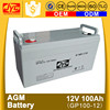 CE MSDS approved long life deep cycle 12v 100ah agm battery