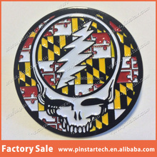 China supplier wholesale Custom new products high quality Grateful Dead Steal Your Face fashion metal lapel Pin badge emblem