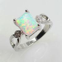 Elegant Ring Designs, 925 Sterling Siver Ring, K17 White Opal Rings US Size#5-#13