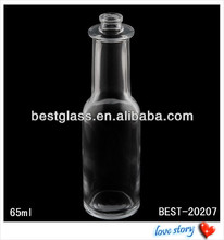65ml clear glass bowling perfume bottles supplier, mould perfume bottles, special shape glass bottle for perfume