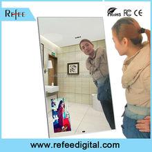 Wall Mounted magic mirror advertisements / magic mirror tv led glass tv / magic mirror tv
