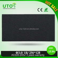 P3 Led Indoor single red color display for rent