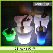 2014 New design inflatable beer Ice Bucket/Oval Plastic iceBucket/Shoe-shaped gold ingot ice bucket/led