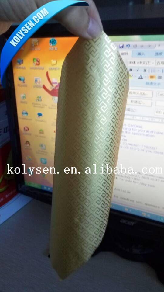Couleur laminé or feuille d'aluminium papier pour Cigarettes emballage